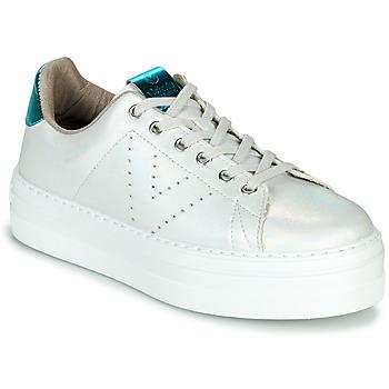 Παπούτσια Γυναίκα Χαμηλά Sneakers Victoria BARCELONA METAL Άσπρο