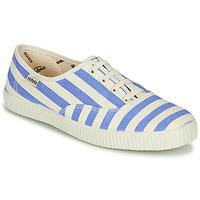 Παπούτσια Γυναίκα Χαμηλά Sneakers Victoria NUEVO RAYAS Άσπρο / Μπλέ