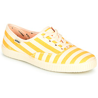 Παπούτσια Γυναίκα Χαμηλά Sneakers Victoria NUEVO RAYAS Yellow / Άσπρο