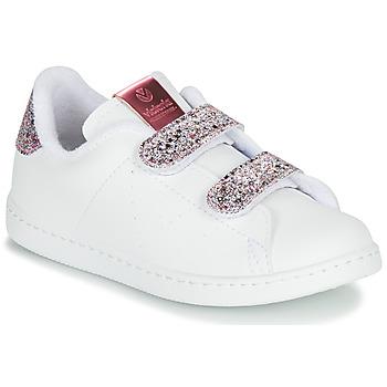 Παπούτσια Κορίτσι Χαμηλά Sneakers Victoria TENIS VELCRO G Άσπρο
