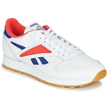 Παπούτσια Άνδρας Χαμηλά Sneakers Reebok Classic CL LEATHER MARK Grey / Άσπρο / Red
