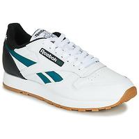 Παπούτσια Άνδρας Χαμηλά Sneakers Reebok Classic CL LEATHER MU Άσπρο / Black