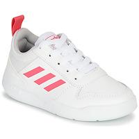 Παπούτσια Κορίτσι Χαμηλά Sneakers adidas Performance TENSAUR K Άσπρο / Ροζ