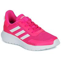Παπούτσια Κορίτσι Χαμηλά Sneakers adidas Performance TENSAUR RUN K Ροζ / Άσπρο