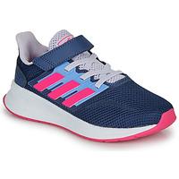 Παπούτσια Κορίτσι Χαμηλά Sneakers adidas Performance RUNFALCON C Μπλέ / Ροζ