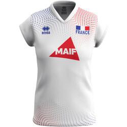 Υφασμάτινα Γυναίκα T-shirt με κοντά μανίκια Errea Maillot femme extérieur Equipe de france 2020 blanc