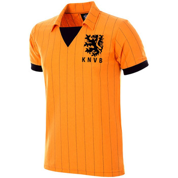 Υφασμάτινα Άνδρας T-shirt με κοντά μανίκια Copa Football Maillot rétro Pays-Bas 1983 orange