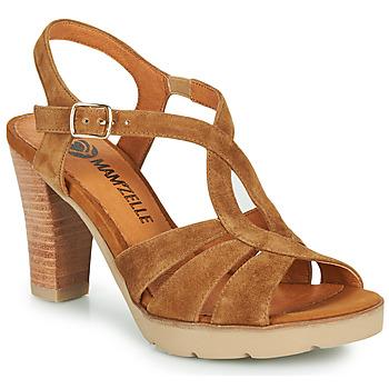 Παπούτσια Γυναίκα Σανδάλια / Πέδιλα Mam'Zelle TIMBA Cognac