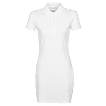 Υφασμάτινα Γυναίκα Κοντά Φορέματα Lacoste EUGENIE Άσπρο
