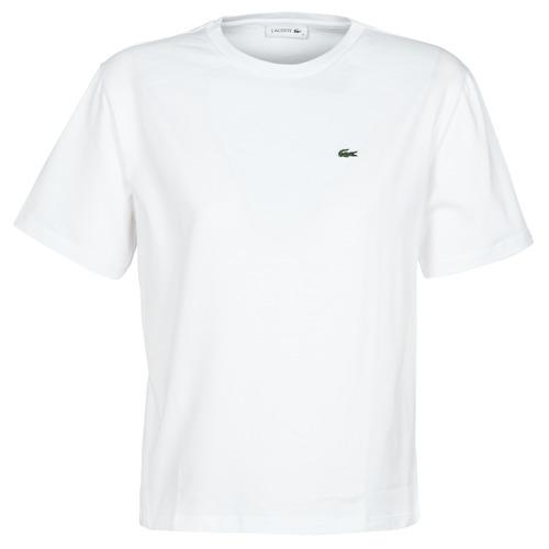 Υφασμάτινα Γυναίκα T-shirt με κοντά μανίκια Lacoste BENOIT Άσπρο