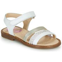 Παπούτσια Κορίτσι Σανδάλια / Πέδιλα Pablosky  Άσπρο / Nacre