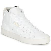 Παπούτσια Γυναίκα Χαμηλά Sneakers adidas Originals adidas SLEEK MID W Άσπρο
