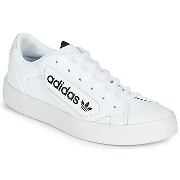 Παπούτσια Γυναίκα Χαμηλά Sneakers adidas Originals adidas SLEEK W Άσπρο