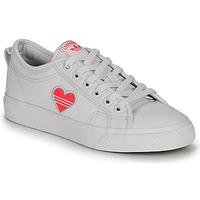 Παπούτσια Γυναίκα Χαμηλά Sneakers adidas Originals NIZZA TREFOIL W Άσπρο