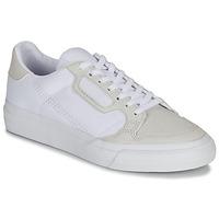 Παπούτσια Παιδί Χαμηλά Sneakers adidas Originals CONTINENTAL VULC J Άσπρο / Beige