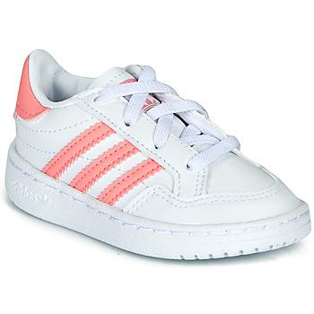 Παπούτσια Κορίτσι Χαμηλά Sneakers adidas Originals NOVICE EL I Άσπρο / Ροζ