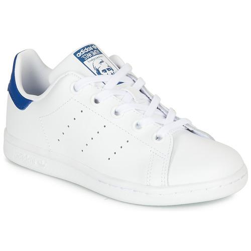 Παπούτσια Παιδί Χαμηλά Sneakers adidas Originals STAN SMITH C Άσπρο / Μπλέ