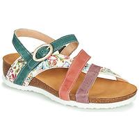 Παπούτσια Γυναίκα Σανδάλια / Πέδιλα Think JULIA Red / Green / Άσπρο