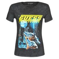 Υφασμάτινα Γυναίκα T-shirt με κοντά μανίκια Guess SS CN NEON TEE Black