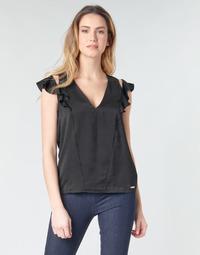 Υφασμάτινα Γυναίκα Μπλούζες Guess SS DAHAB TOP Black