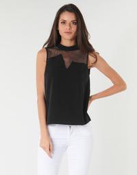 Υφασμάτινα Γυναίκα Μπλούζες Guess SL MAYA TOP Black