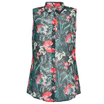 Υφασμάτινα Γυναίκα Μπλούζες Guess SL CLOUIS SHIRT Black / Green / Red