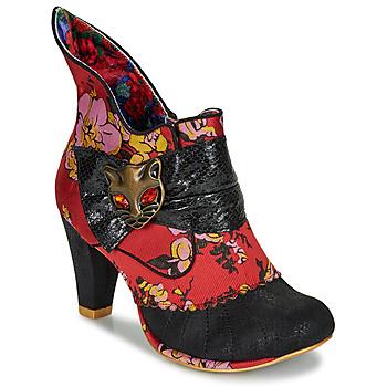 Παπούτσια Γυναίκα Μποτίνια Irregular Choice MIAOW Red / Black