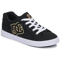 Παπούτσια Γυναίκα Χαμηλά Sneakers DC Shoes CHELSEA TX Black / Gold