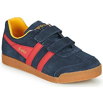 Παπούτσια Παιδί Χαμηλά Sneakers Gola HARRIER VELCRO Μπλέ / Red