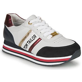 Παπούτσια Γυναίκα Χαμηλά Sneakers Tom Tailor 8095504 Άσπρο / Μπλέ / Red