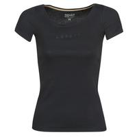 Υφασμάτινα Γυναίκα T-shirt με κοντά μανίκια Esprit T-SHIRTS LOGO Black