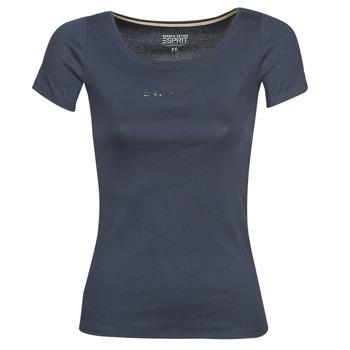 Υφασμάτινα Γυναίκα T-shirt με κοντά μανίκια Esprit T-SHIRTS LOGO Marine