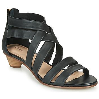 Παπούτσια Γυναίκα Σανδάλια / Πέδιλα Clarks MENA SILK Black
