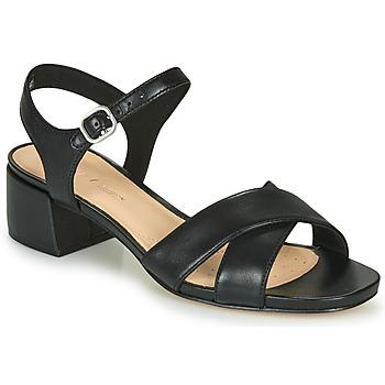 Παπούτσια Γυναίκα Σανδάλια / Πέδιλα Clarks SHEER35 STRAP Black