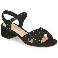 Παπούτσια Γυναίκα Σανδάλια / Πέδιλα Clarks SHEER35 STRAP Black / Clou