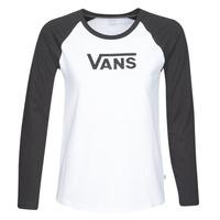 Υφασμάτινα Γυναίκα Μπλουζάκια με μακριά μανίκια Vans FLYING V LS RAGLAN Άσπρο / Black