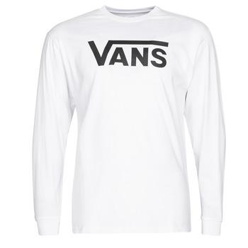 Υφασμάτινα Άνδρας Μπλουζάκια με μακριά μανίκια Vans VANS CLASSIC Άσπρο