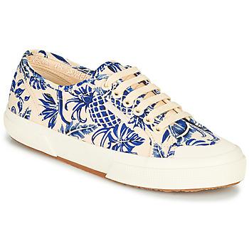 Παπούτσια Γυναίκα Χαμηλά Sneakers Superga 2294-COTFANW Beige / Μπλέ