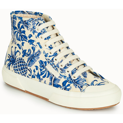 Παπούτσια Γυναίκα Ψηλά Sneakers Superga 2295-COTFANW Beige / Μπλέ