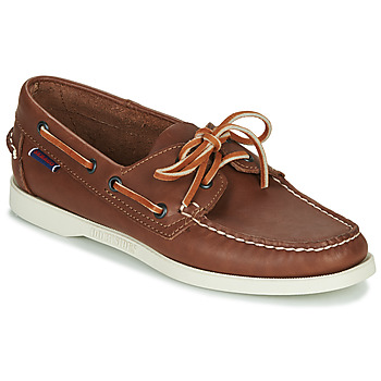 Παπούτσια Γυναίκα Boat shoes Sebago DOCKSIDES PORTLAND CRAZY H W Brown