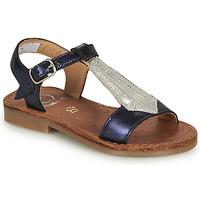 Παπούτσια Κορίτσι Σανδάλια / Πέδιλα Shoo Pom HAPPY TIE Μπλέ / Silver