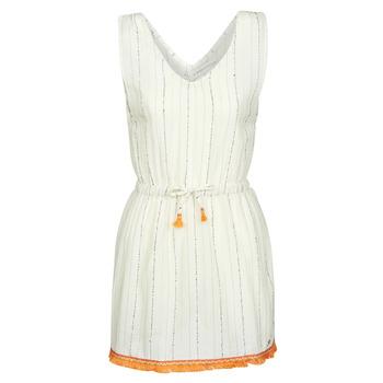 Υφασμάτινα Γυναίκα Κοντά Φορέματα Banana Moon MARZUL MANDALO Άσπρο / Orange