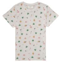 Υφασμάτινα Κορίτσι T-shirt με κοντά μανίκια Deeluxe ELINA Άσπρο