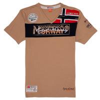 Υφασμάτινα Αγόρι T-shirt με κοντά μανίκια Geographical Norway JIDNEY Beige