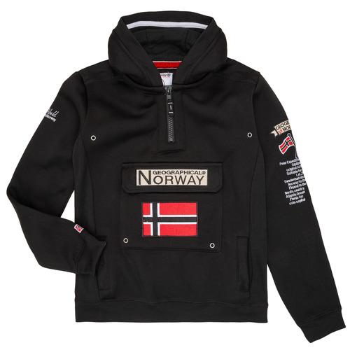Υφασμάτινα Αγόρι Φούτερ Geographical Norway GYMCLASS Black