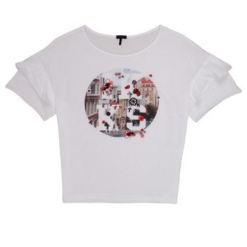 Υφασμάτινα Κορίτσι T-shirt με κοντά μανίκια Ikks DIBILIOU Άσπρο
