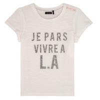 Υφασμάτινα Κορίτσι T-shirt με κοντά μανίκια Ikks DARRIAL Άσπρο