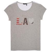 Υφασμάτινα Κορίτσι T-shirt με κοντά μανίκια Ikks ZOKO Grey