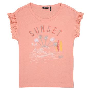 Υφασμάτινα Κορίτσι T-shirt με κοντά μανίκια Ikks POLIAK Orange