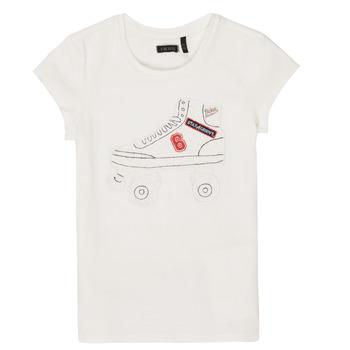 Υφασμάτινα Κορίτσι T-shirt με κοντά μανίκια Ikks NADANA Άσπρο